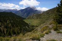 La vallee de Cortal Rosso, au fond, Le Pic de Font Freda