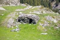 Un orri au dessus de la vallee de Cortal Rosso