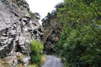 Le route dans les gorges du Segre