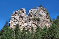 Joli rocher sous La Cicera