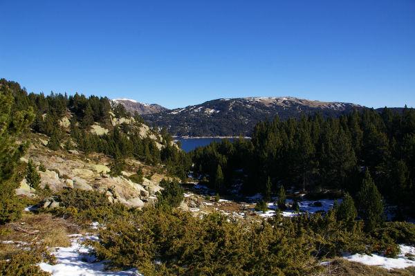 Au fond, le lac des Bouillouses
