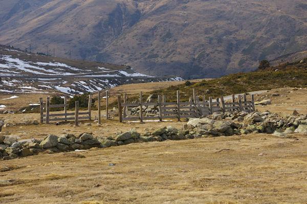 Un parc à moutons près du col de Puymorens