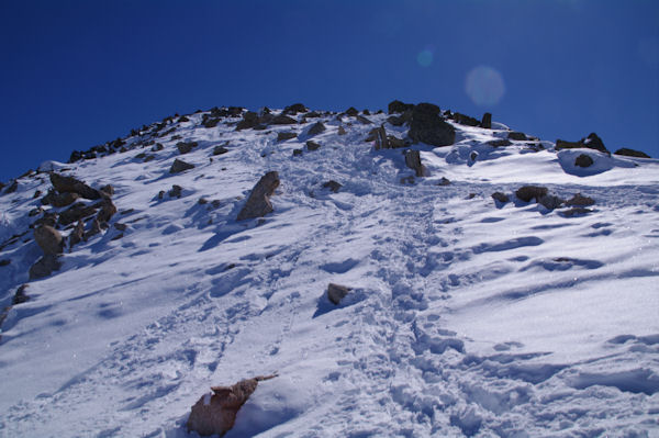 Dernière partie de l_ascension du Pic de la Mina