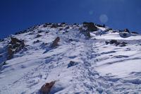 Derniere partie de l'ascension du Pic de la Mina