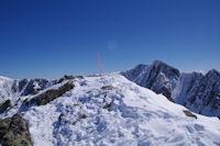 Le sommet du Pic de la Mina