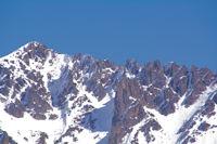 La crete dentelee entre le Pic de l'Estanyol et le Pic de Font Frede