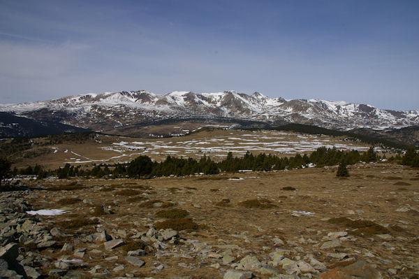 La chaine du Puig Carlit depuis le Pic dels Moros