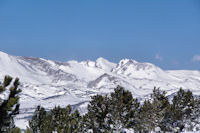 Le Puig Carlit depuis le Pic dels Moros