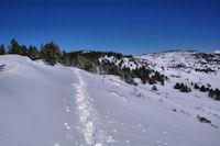 La crête finale menant à la Tossa de Nambet, à droite, le Pic dels Moros