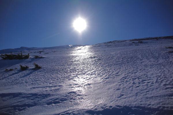 Ambiance gelée en montant le Bac d_en Morer
