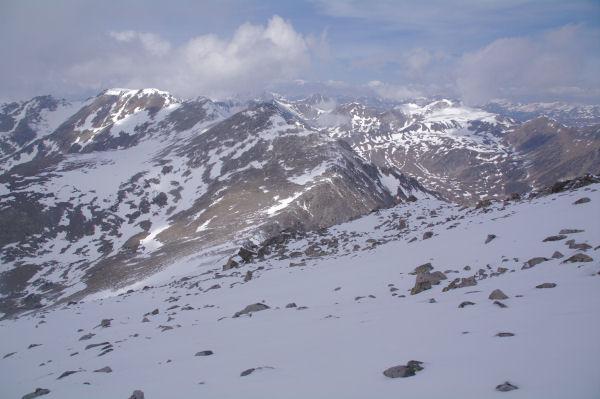 La Portella de Meranges, les Pics d_Engorgs et le Pic de Camp Colomer