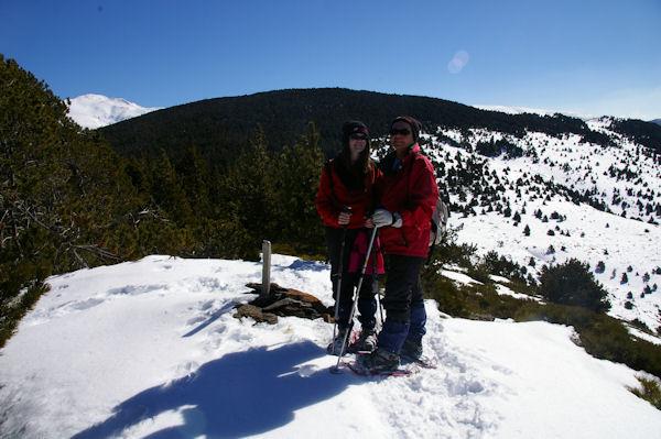 Marie Françoise et Camille au sommet du Puig d_Estaques
