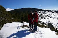 Marie Francoise et Camille au sommet du Puig d'Estaques