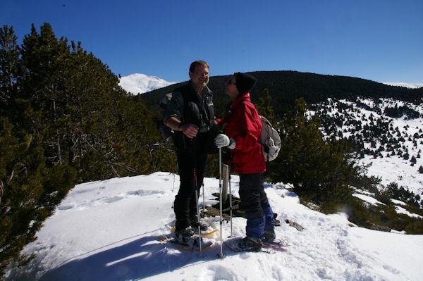 Fred et Camille au sommet du Puig d_Estaques