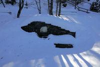 La fontaine Ste Leocadie sous la neige