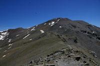 Le Puigmal d'Err depuis la crete frontiere