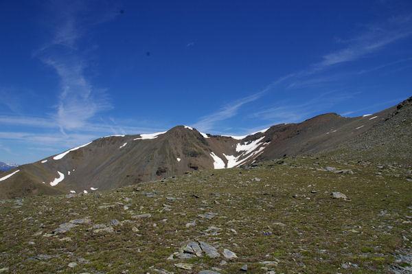 Le Petit Puigmal de Sèdre et le Puigmal de Llo depuis la crête frontière