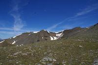 Le Petit Puigmal de Sedre et le Puigmal de Llo depuis la crete frontiere