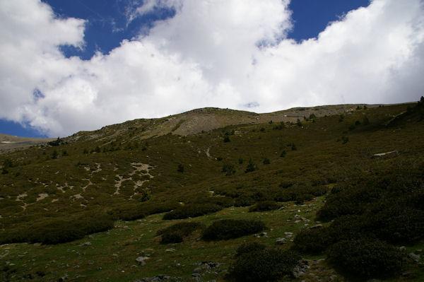 La crête frontière entre la Tossa del Pas dels Lladres et le Puigmal d4err