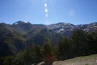A gauche, le Puigmal de Llo, a droite, le Puigmal d'Err