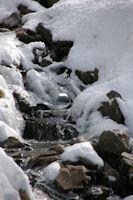 Bulle de glace au torrent de la Vila