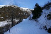 Le vallon du torrent de la Tossa surmonte par la Serra de l'Artiga