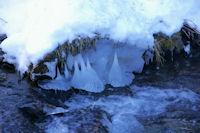 Des stalagmites dans le Segre