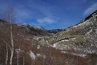 La vallee de la riviere d'Angoustrine remontant vers le Lac des Bouillouses