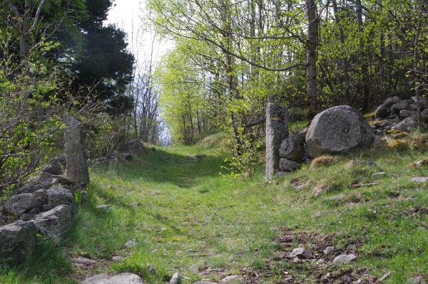 Le départ du chemin sous Roques Encantades