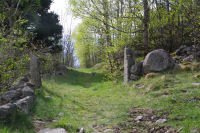 Le depart du chemin sous Roques Encantades