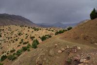 Sur les pentes du djebel Tafenfent, orages sur Tabent!