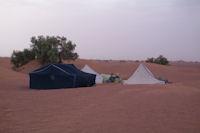 Le campement dans les dunes d'Oulad Driss