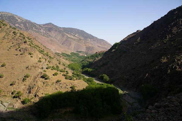 La vallée d&#39Azaden au dessus d&#39Id Aïda