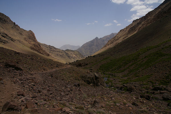 La voie normale menant au refuge du Toubkal