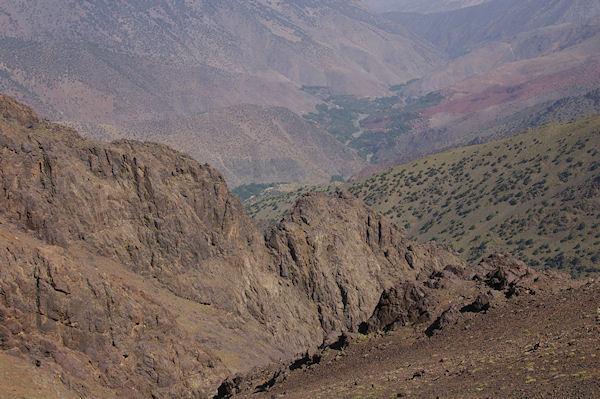 La vallée d&#39Azaden depuis le Tizi Ouguelzim