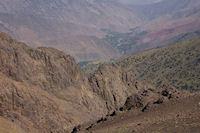 La vallee d'Azaden depuis le Tizi Ouguelzim