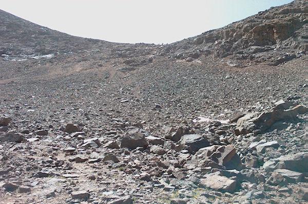 Le col permettant l&#39accès à la crête Ouest du Toubkal