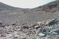 Le col permettant l&#39acces a la crete Ouest du Toubkal