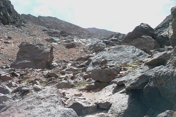 Une dernière photo du Toubkal avant de basculer vers le refuge