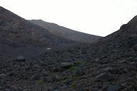 On ne voit pas encore le Toubkal mais sa crete Sud qu&#39on va gravir