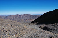 Ici, à 3800m, les pentes les plus rudes son passées...