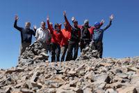 Notre groupe au sommet du M'Goun
