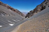 Le vallon d'Oulilimt sous la crete Nord du M'Goun