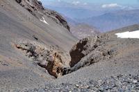 Les gorges d'Oulilimt sous la crete Nord du M'Goun