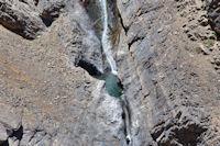 Belles cascades sur une des cretes Nord du M'Goun