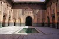 La cour principale de la Merdersa Ben Youssef