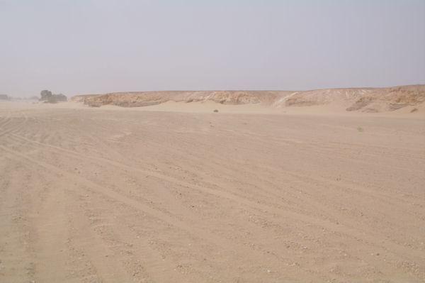 Les rives de l_Oued el Atach assèché