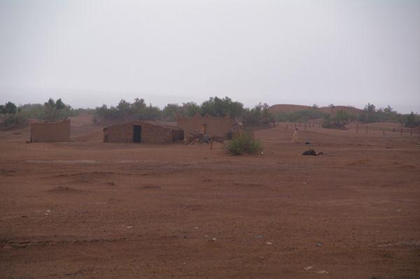 Des habitations au bord du Draa