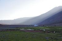 Derniers rayons du soleil sur le plateau de Tessaout