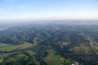 La vallee du Salat sur fond de Petites Pyrenees